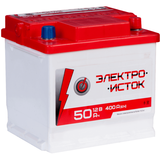 Аккумулятор для авто Аккумуляторная батарея ЭЛЕКТРОИСТОК 6СТ-50АЗ (1) (L1) 400А 12V (E)