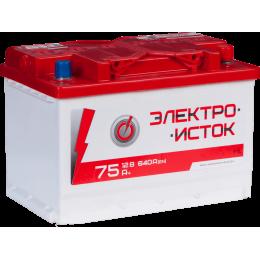 Аккумуляторная батарея ЭЛЕКТРОИСТОК 6СТ-75АЗ (0) (L3) 640А 12V (E)
