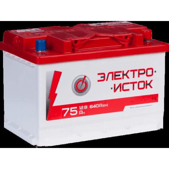 Аккумулятор для авто Аккумуляторная батарея ЭЛЕКТРОИСТОК 6СТ-75АЗ (0) (L3) 640А 12V (E)