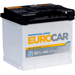 Аккумуляторная батарея EUROCAR 6СТ-52АЗ (1) (L1) 480А 12V (E)