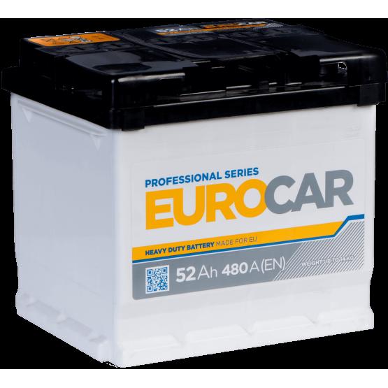Аккумулятор для авто Аккумуляторная батарея EUROCAR 6СТ-52АЗ (1) (L1) 480А 12V (E)
