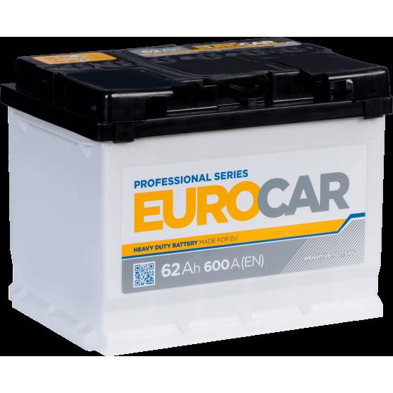 Аккумулятор для авто Аккумуляторная батарея EUROCAR 6СТ-62АЗ (0) (L2) 600А 12V (E)