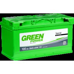 Аккумуляторная батарея GREEN POWER 6СТ-100АЗ (0) (L5) 840А 12V (E)