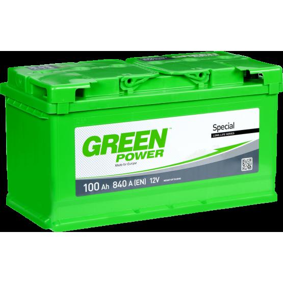 Аккумулятор для авто Аккумуляторная батарея GREEN POWER 6СТ-100АЗ (0) (L5) 840А 12V (E)