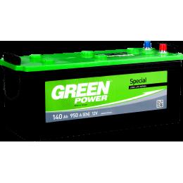 Аккумуляторная батарея GREEN POWER 6СТ-140АЗ (3) (A) 950А 12V (E)