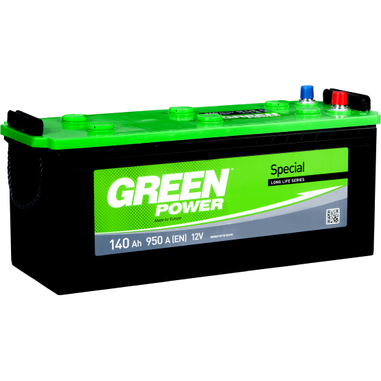 Аккумулятор для авто Аккумуляторная батарея GREEN POWER 6СТ-140АЗ (3) (A) 950А 12V (E)