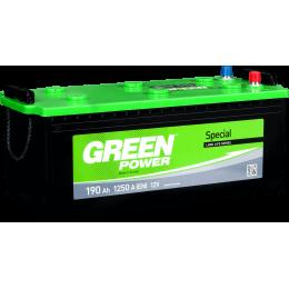 Аккумуляторная батарея GREEN POWER 6СТ-190АЗ (3) (B) 1250А 12V (E)