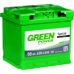 Аккумуляторная батарея GREEN POWER 6СТ-50АЗ (1) (L1) 420А 12V (E)