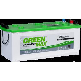 Аккумуляторная батарея GREEN POWER Max 6СТ-205АЗ (3) (B) 1400А 12V (E)