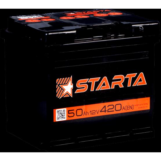 Аккумулятор для авто Аккумуляторная батарея STARTA 6СТ-50АЗ (1) (L1) 420А 12V (E)
