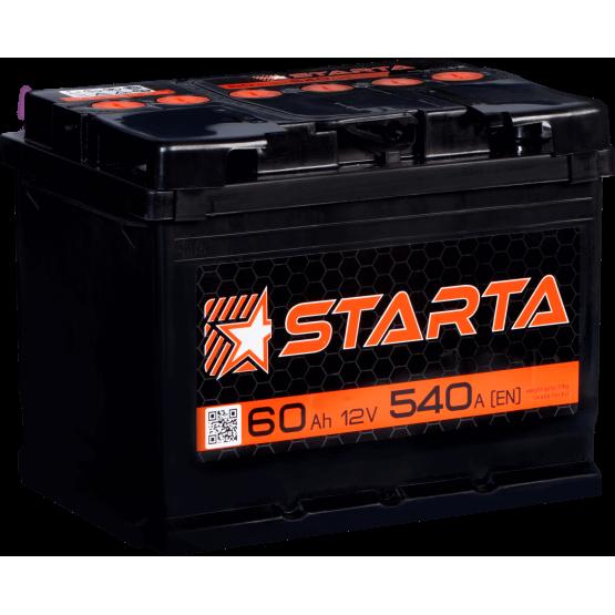 Аккумулятор для авто Аккумуляторная батарея STARTA 6СТ-60АЗ (0) (L2) 540А 12V (E)