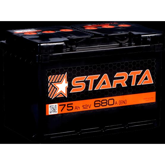Аккумулятор для авто Аккумуляторная батарея STARTA 6СТ-75АЗ (0) (L3) 680А 12V (E)