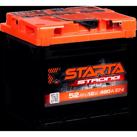 Аккумулятор для авто Аккумуляторная батарея STARTA Strong 6СТ-52АЗ (0) (L1) 480А 12V (E)