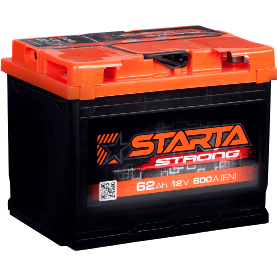 Аккумулятор для авто Аккумуляторная батарея STARTA Strong 6СТ-62АЗ (1) (L2) 600А 12V (E)