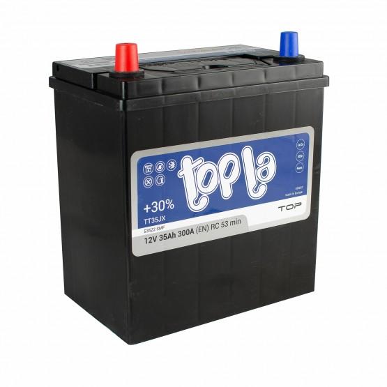 Аккумулятор для авто 35 J(1) Topla Top 53522 (B19+B0) 300A (тонк)