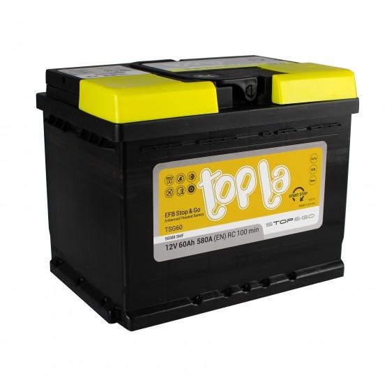 Аккумулятор для авто 60 J(0) Topla EFB Stop & Go 56068 (D23+B01) 600A
