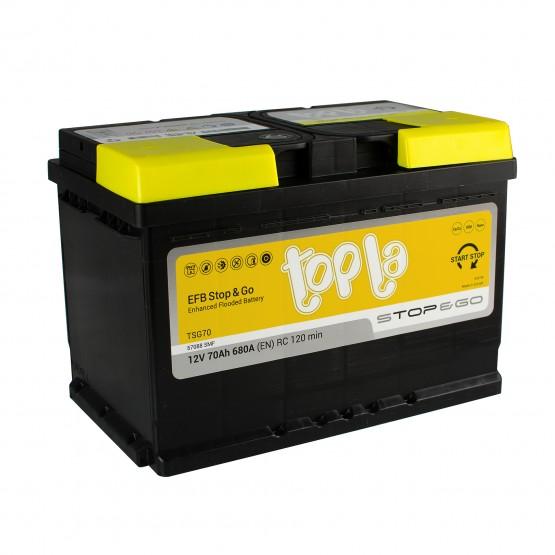 Аккумулятор для авто 70 E(0) Topla EFB Stop & Go 57088 (L3) 680A