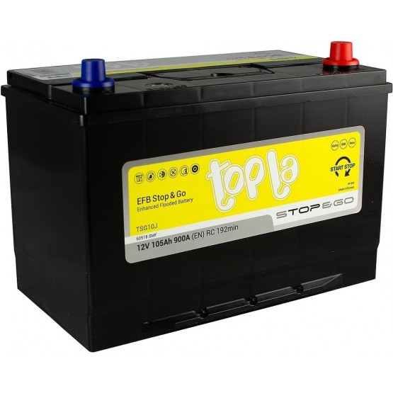 Аккумулятор для авто 105 J(0) Topla EFB Stop & Go 60518 (D31+B01) 900A