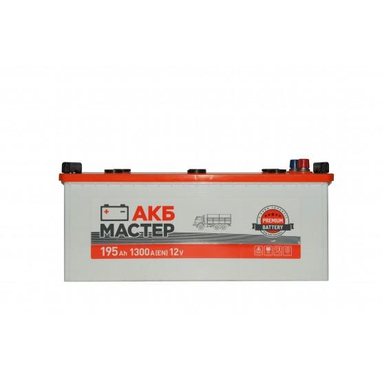 Аккумулятор для авто Аккумуляторная батарея АКБ МАСТЕР 6СТ-195АЗ (3) (B) 1300А 12V (E)