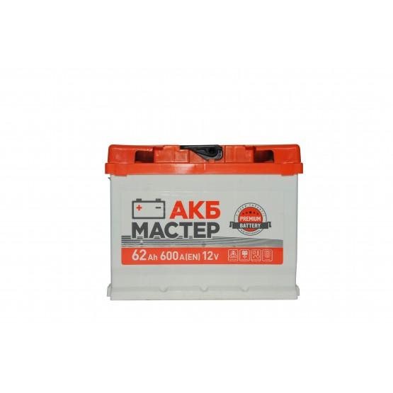 Аккумулятор для авто Аккумуляторная батарея АКБ МАСТЕР 6СТ-62АЗ (0) (L2) 600А 12V (E)