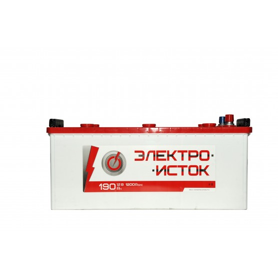 Аккумулятор для авто Аккумуляторная батарея ЭЛЕКТРОИСТОК 6СТ-190АЗ (3) (B) 1200А 12V (E)