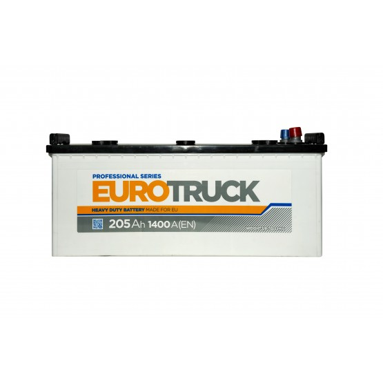 Аккумулятор для авто Аккумуляторная батарея EUROTRUCK 6СТ-205АЗ (3) (B) 1400А 12V (E)