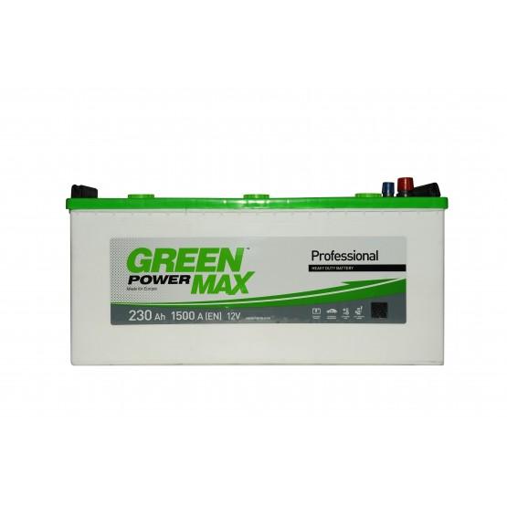 Аккумулятор для авто Аккумуляторная батарея GREEN POWER Max 6СТ-230АЗ (3) (C) 1500А 12V (E)
