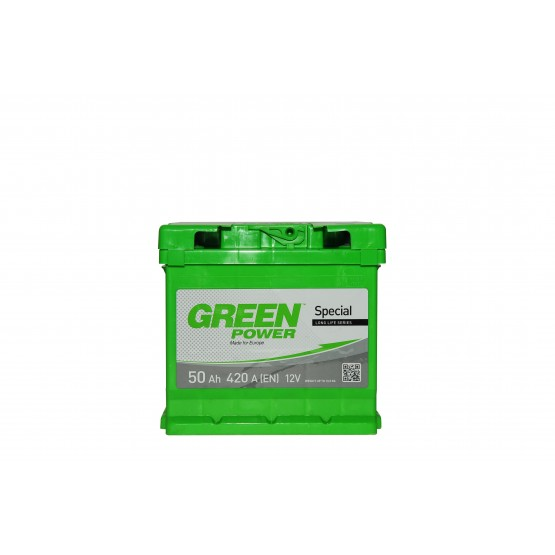 Аккумулятор для авто Аккумуляторная батарея GREEN POWER 6СТ-50АЗ (0) (L1) 420А 12V (E)