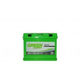 Аккумуляторная батарея GREEN POWER 6СТ-60АЗ (0) (L2) 540А 12V (E)