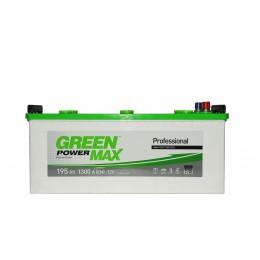 Аккумуляторная батарея GREEN POWER Max 6СТ-195АЗ (3) (B) 1300А 12V (E)