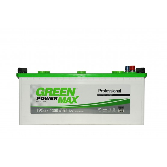 Аккумулятор для авто Аккумуляторная батарея GREEN POWER Max 6СТ-195АЗ (3) (B) 1300А 12V (E)