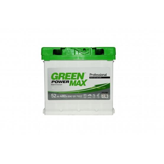 Аккумулятор для авто Аккумуляторная батарея GREEN POWER Max 6СТ-52АЗ (0) (L1) 480А 12V (E)