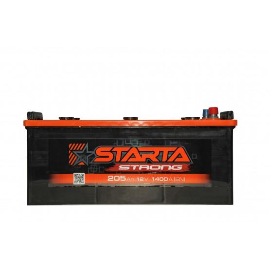 Аккумулятор для авто Аккумуляторная батарея STARTA Strong 6СТ-205АЗ (3) (B) 1400А 12V (E)